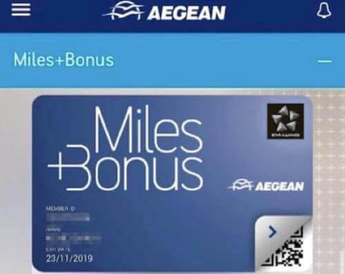 エーゲ航空、Miles+Bonus、ブルー会員