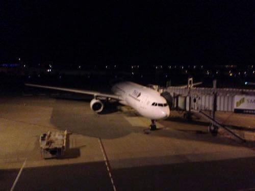 関西空港に駐機するタイ国際航空