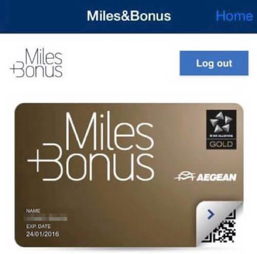 エーゲ航空のMiles+ Bonusでゴールドに