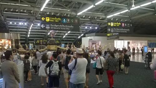 スワンナプーム国際空港、制限エリア