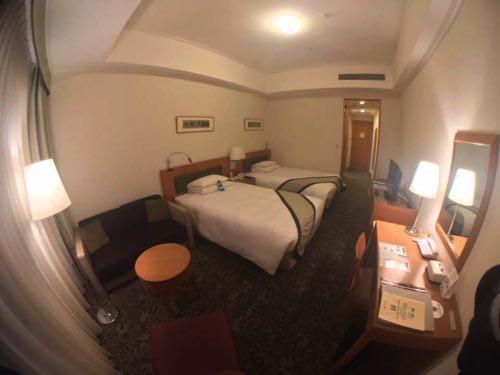 ホテル日航熊本のスタンダードツインの部屋の様子