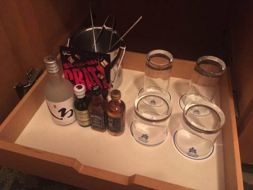 ホテル日航熊本の部屋にあるミニバー
