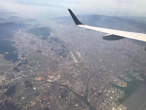 空から見える福岡空港