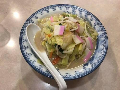 長崎空港で食べた長崎ちゃんぽん