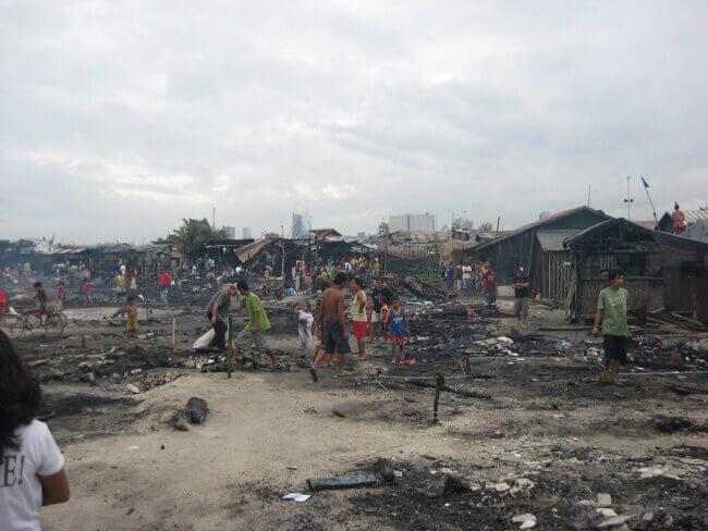 火災後のスラム
