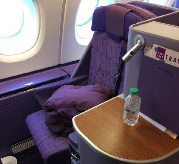 タイ国際航空ビジネスクラススタッガードシート