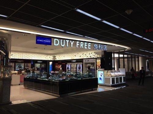 ドンムアン空港の免税店ゾーン