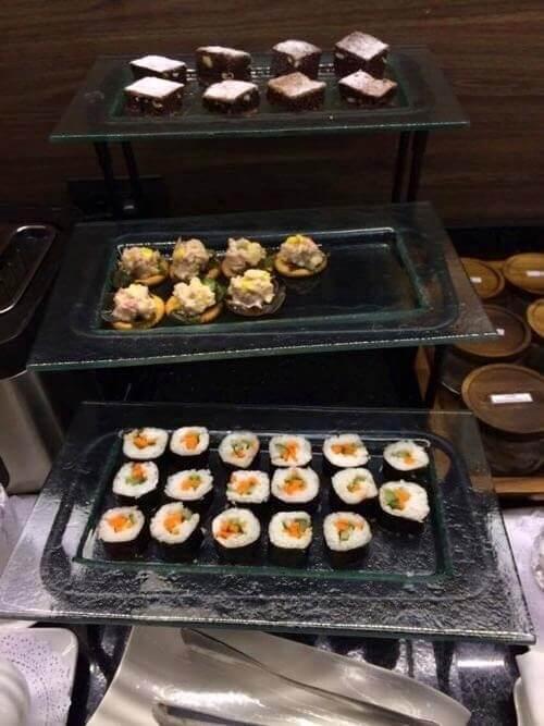 ドンムアン空港キングパワーラウンジの軽食