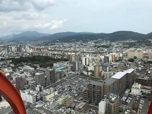 京都タワーからの東山方面の景色