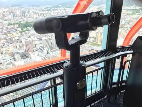 京都タワー展望台の双眼鏡