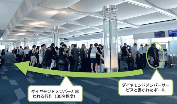 羽田空港ANA国際線のダイヤモンドメンバーの優先搭乗