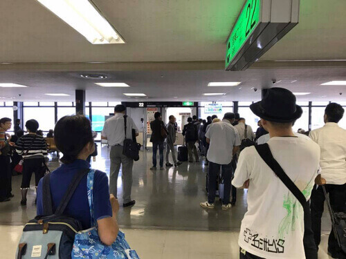 JAL伊丹-成田便の搭乗ゲート