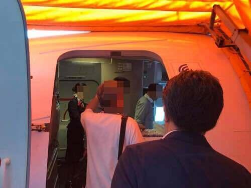 JALに乗り込む直前