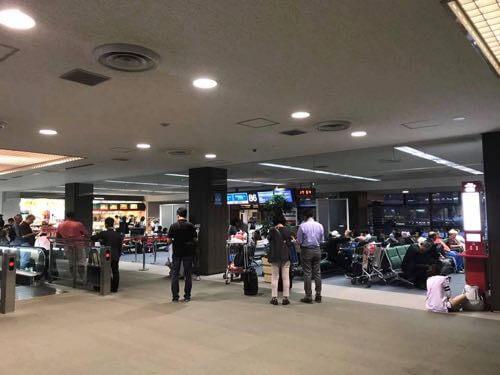 JAL成田-バンコク便の搭乗ゲート