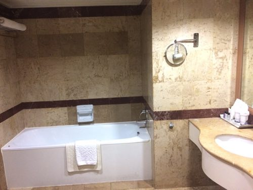 バイヨークスカイホテルのシャワー、トイレゾーン