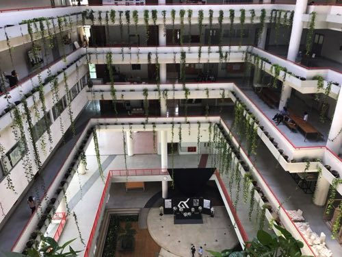 タマサート大学建築学部の6階からの様子