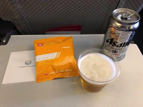 JALバンコク-羽田便の軽食サービス