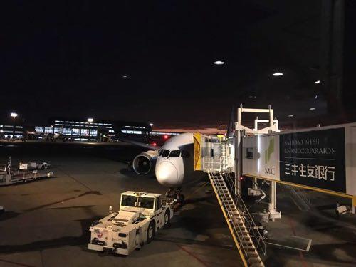 JAL成田-バンコク便のB787