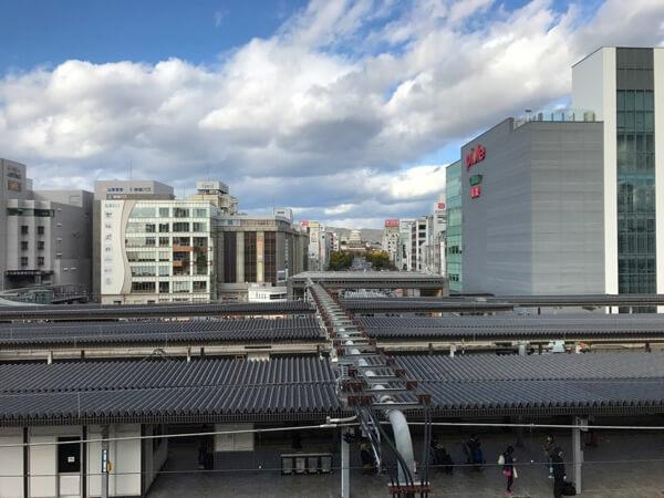 姫路城の新幹線から見える姫路城