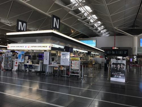 中部国際空港の国内線、JALカウンター