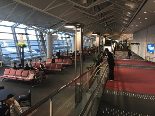 中部国際空港、国内線の様子
