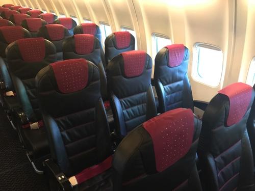 JALの中部国際空港発、新千歳行きの座席