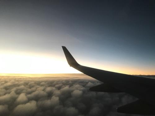 中部国際空港発、JAL千歳行きの窓から見える風景