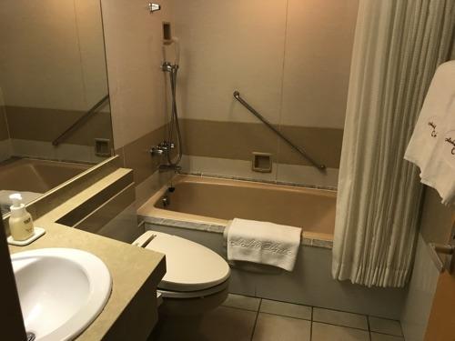 ホテルオークラ札幌のスタンダードダブル、トイレ