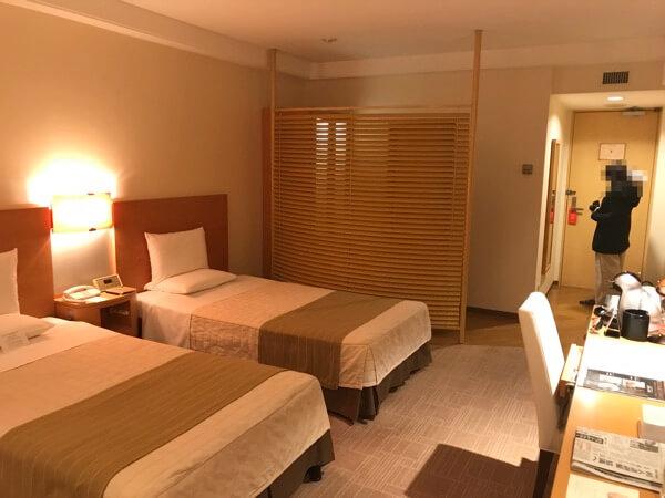 ホテルオークラ札幌のスペーシャスツイン