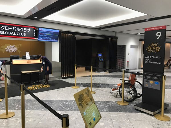 新千歳空港のJGCカウンター