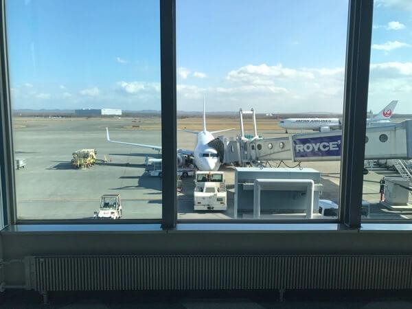 新千歳空港で撮影したJAL3106便