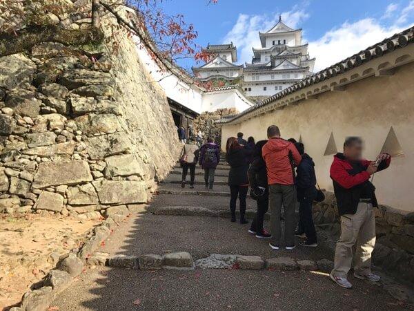 姫路城の経路の様子