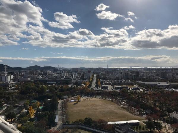 姫路城の大天守からの景色
