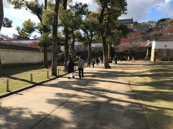 姫路城の天守直行ルートの最後の部分