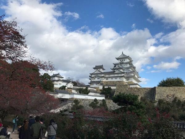 姫路城の西の丸から大天守を見た景色