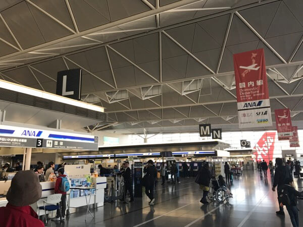 中部国際空港国内線出発カウンター