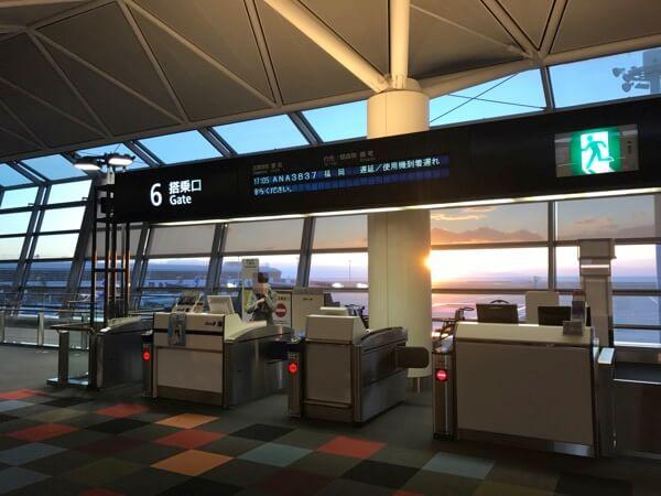 中部国際空港国内線6番搭乗口