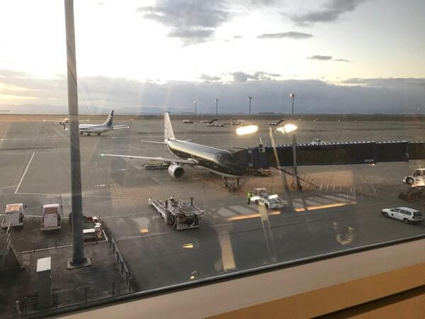 中部国際空港に駐機するスターフライヤー