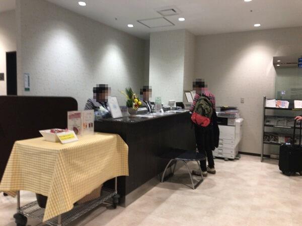 福岡空港くつろぎのラウンジTIMEの受付