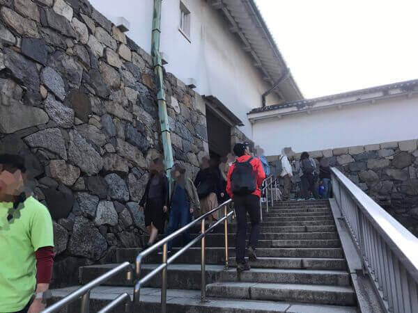 名古屋城の天守閣の入口