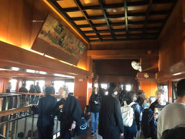 名古屋城の天守閣の様子