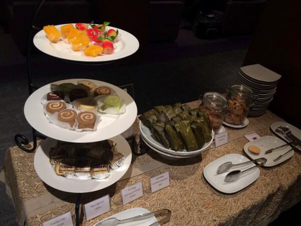 スワンナプーム国際空港のタイ国際航空ロイヤルシルクラウンジのデザート