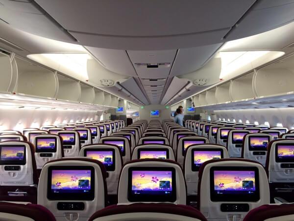 タイ国際航空A350エコノミークラス