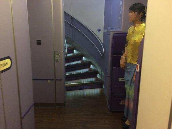 タイ国際航空A380の階段