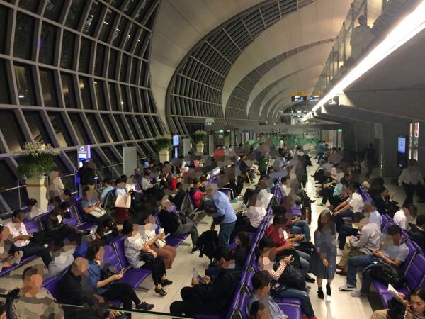 スワンナプーム国際空港の待合室