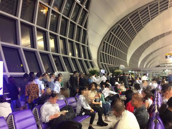スワンナプーム国際空港の優先搭乗の列
