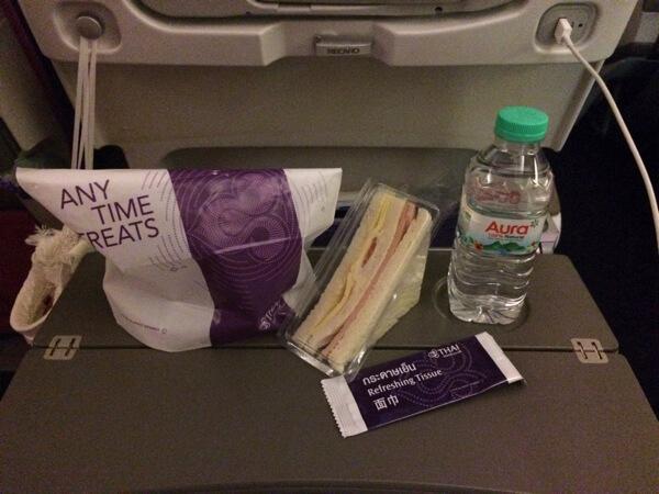タイ国際航空A380の軽食