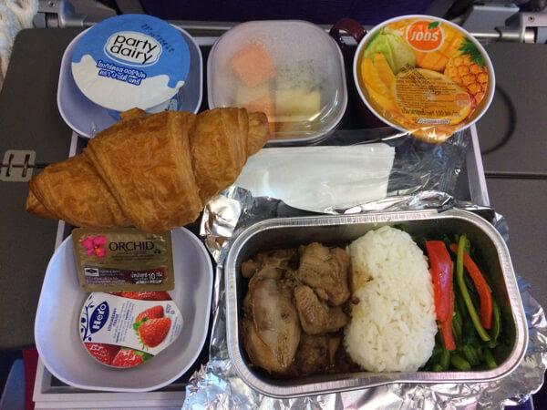 タイ国際航空A380の機内食(朝食)