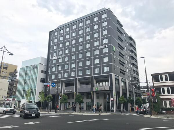 京都駅八条口にあるイビスホテル