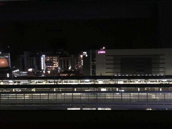 ホテル日航姫路最上階ダブルルームから眺め